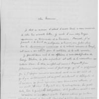 Correspondance autour d'une communication faite à la Société des Antiquaires de France