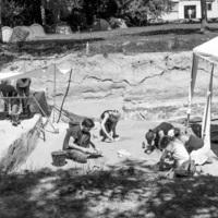 France, Étiolles (Essonne) : les archéologues au travail