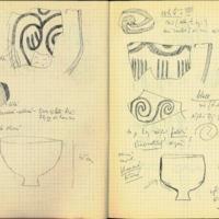 Carnet de notes de Bohumil Soudsky consacré aux céramiques.
