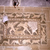 Alexandrie : mosaïque des Erotes à la chasse