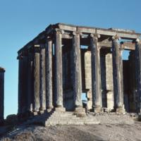 Aizanoi, Temple de Zeus (IIe siècle apr. J.-C.) : façade arrière (ouest)