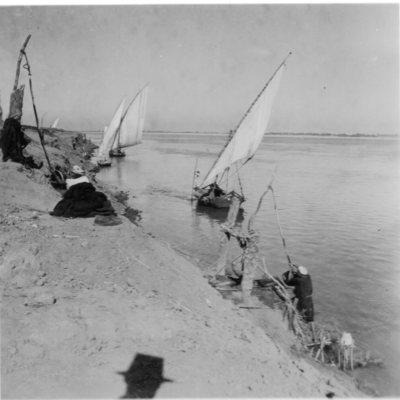 Qena, vues pittoresques du Nil.