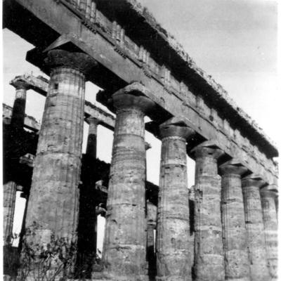 Poséidonia-Paestum, temple de Poséidon, côté Sud.