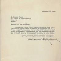 Correspondance adressée à Charles Picard