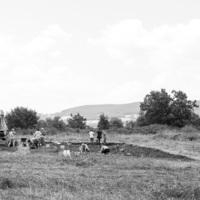 Italie, Civita di Tricarico (Basilicate) : vues d'ensemble du chantier