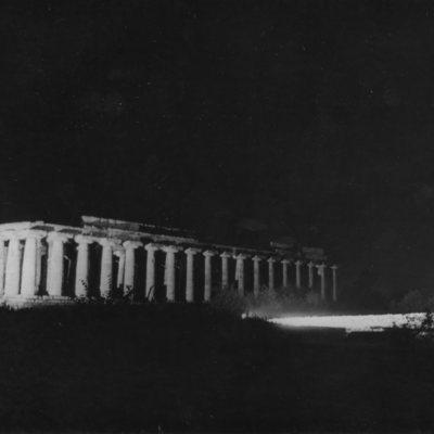 Poséidonia-Paestum, temple d'Héra, côté Nord et façade Est.