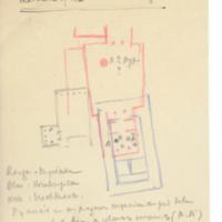 Plan du Hall des rois athéniens dans l'ancien temple d'Athéna