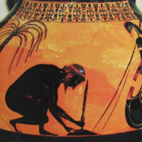 Amphore, signée par Exékias