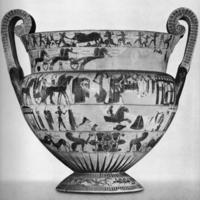Chiusi : Cratère à volutes, dit « vase François », signé par le peintre Clitias et le potier Ergotimos