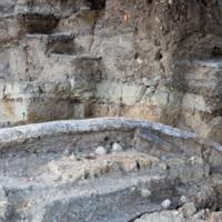 Italie, Atella (Basilicate) : les archéologues au travail