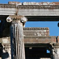 Aizanoi, Temple de Zeus (IIe siècle apr. J.-C.) : double peristasis arrière