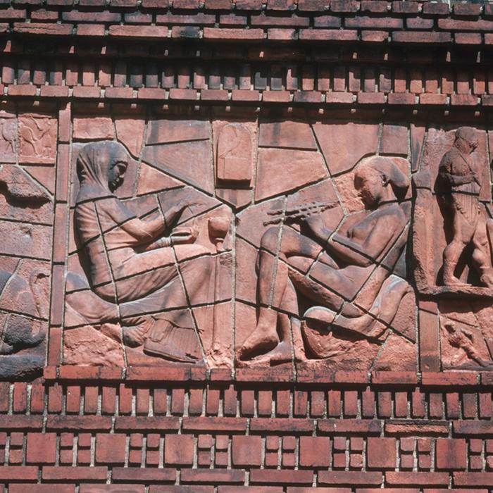 Institut d'art et d'archéologie : la frise du bâtiment (en cours de révision)