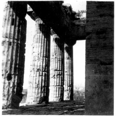 Poséidonia-Paestum, temple de Poséidon, portique et péristasis Nord.