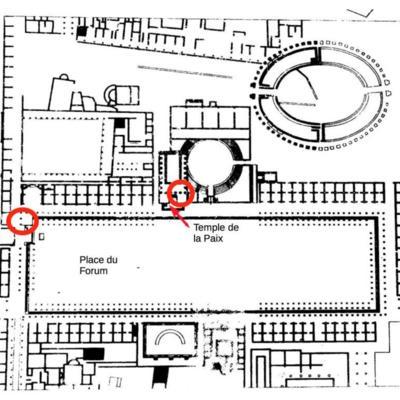 Poséidonia-Paestum, temple de la Paix et Forum
