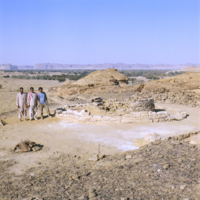 Arabie Saoudite, Hégra : tombeau tumulus (fouilles 2008)